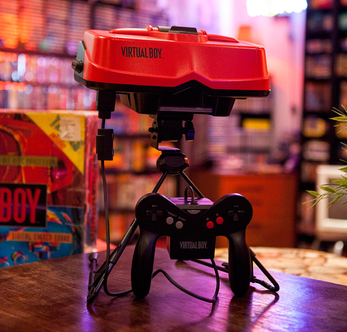 Virtual Boy med handkontroll