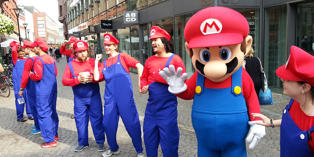 Super Mario Flashmob 1